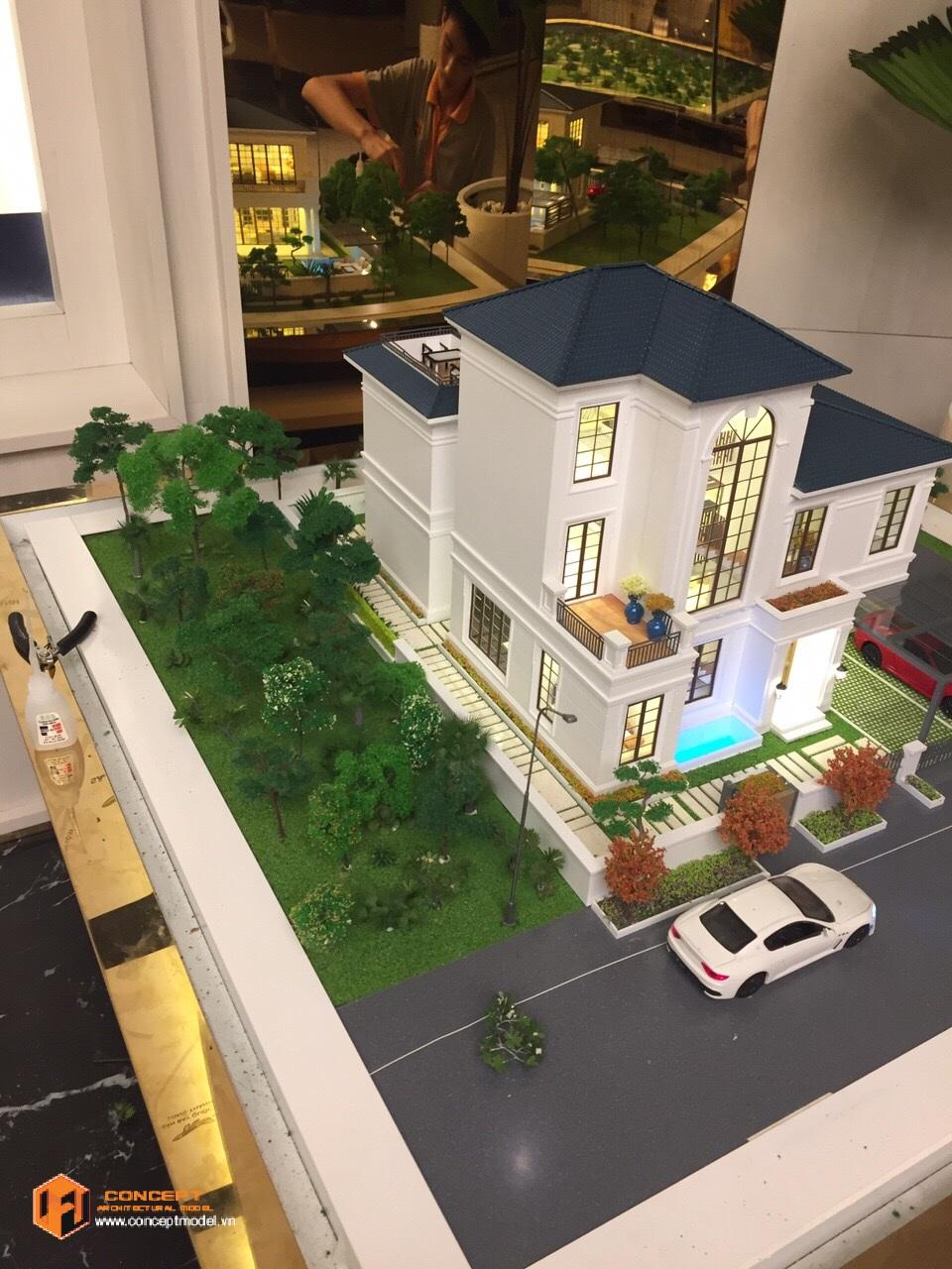 Nhà biệt thự mẫu dự án SwanBay tập đoàn Swancity